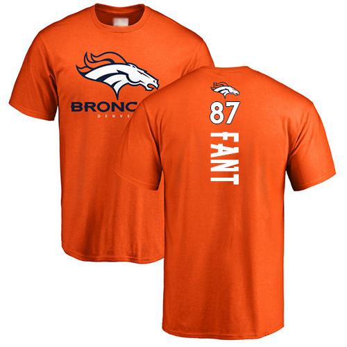 Noah Fant Orange Jersey: T-Shirt Backer #87 Football Denver Broncos