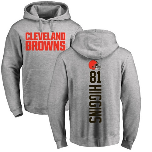 Ash Rashard Higgins Backer - Football #81 Cleveland Browns Pullover Hoodie