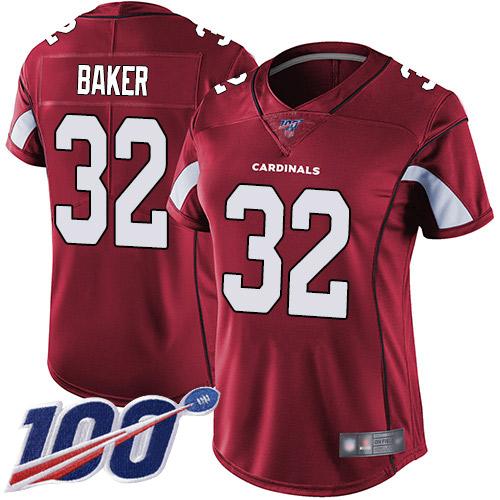 Budda Baker Women's Red Limited Jersey: #32 Football Home Arizona Cardinals 100th Season Vapor Untouchable