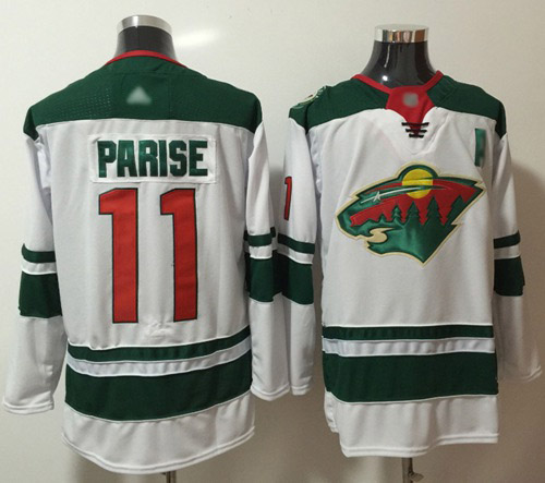 Adidas Wild #11 Zach Parise White Road Authentic Stitched NHL Jersey