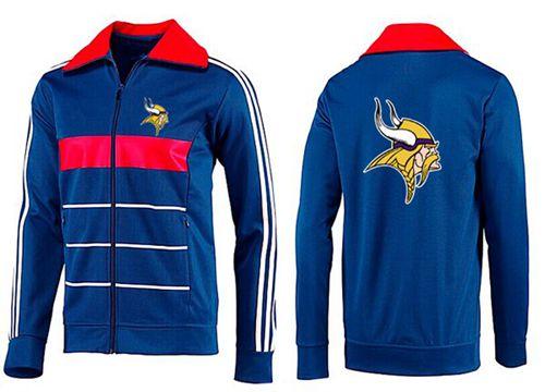 NFL Minnesota Vikings Team Logo Jacket Blue_2