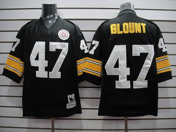 Mitchell & Ness Steelers #47 Mel Blount black Stitched Throwback NFL Jersey