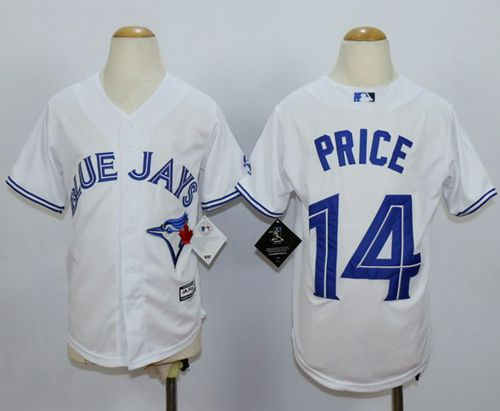 Blue Jays #14 David Price White Cool Base Stitched Youth MLB Jersey