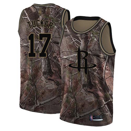 Nike Rockets #17 PJ Tucker Camo Women's NBA Swingman Realtree Collection Jersey