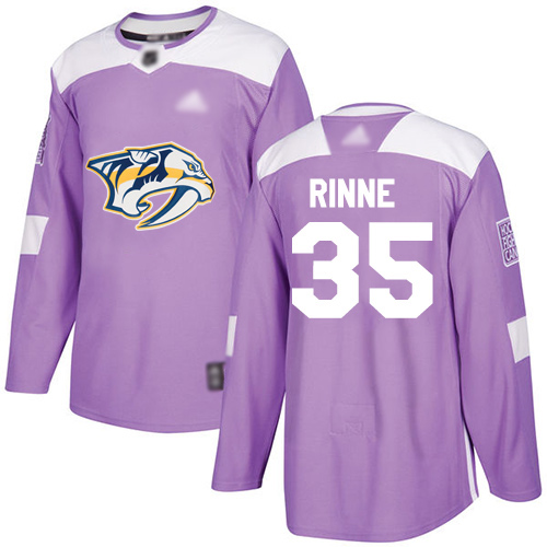 Adidas Predators #35 Pekka Rinne Purple Authentic Fights Cancer Stitched Youth NHL Jersey