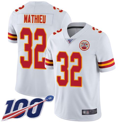 Tyrann Mathieu Youth White Limited Jersey: #32 Football Road Kansas City Chiefs 100th Season Vapor Untouchable