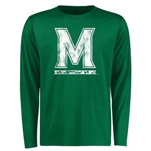 Maryland Terrapins St. Patrick's Day White Logo Long Sleeves T-Shirt Green