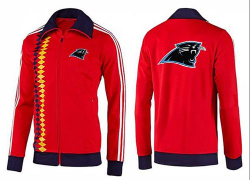 NFL Carolina Panthers Team Logo Jacket Red