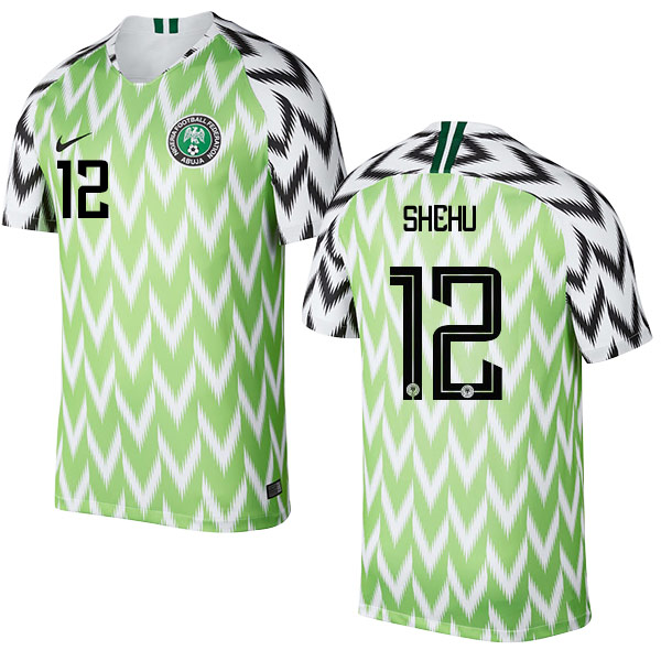 Nigeria #12 SHEHU Home Soccer Country Jersey