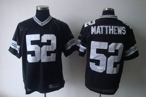 Packers #52 Clay Matthews Black Shadow Stitched Youth NFL Jersey