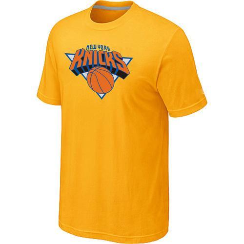 New York Knicks Big & Tall Primary Logo T-Shirt Yellow