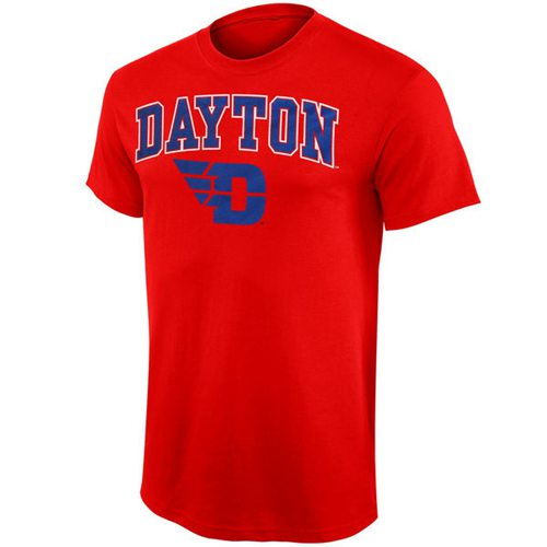 Dayton Flyers Mid Size Arch Over Logo T-Shirt Red