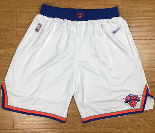 Men's New York Knicks Nike White Swingman Basketball Shorts