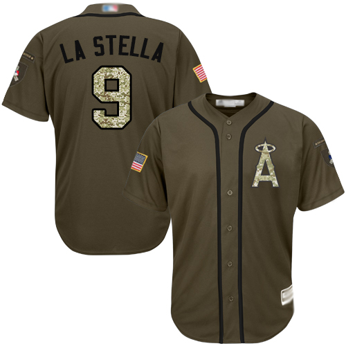 Angels #43 Garrett Richards Green Salute to Service Stitched Youth Baseball Jersey