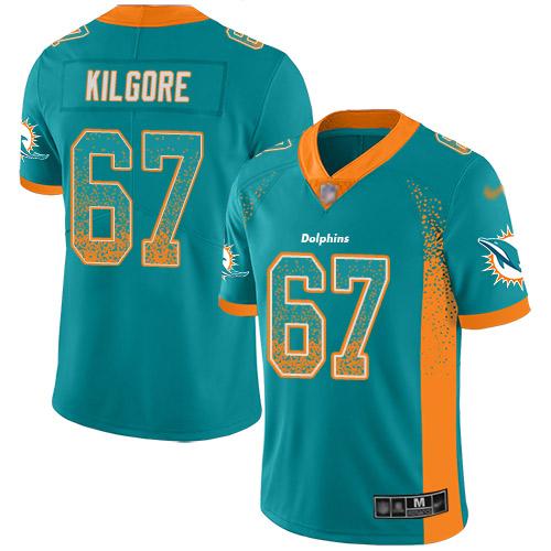Daniel Kilgore Youth Green Limited Jersey: #67 Football Miami Dolphins Rush Drift Fashion