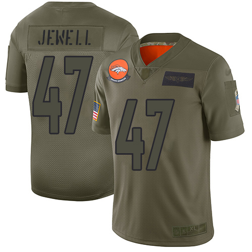 Josey Jewell Youth Limited Olive Jersey: Nike NFL Denver Broncos 2019 Salute to Service #47