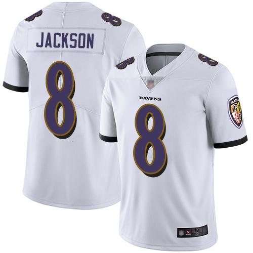 Youth Lamar Jackson Limited White Jersey: Football Baltimore Ravens #8 Road Vapor Untouchable