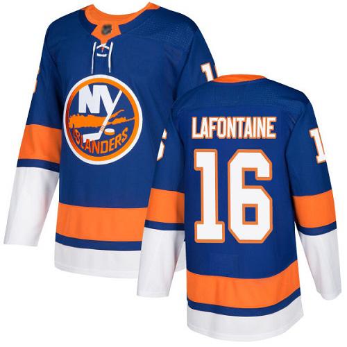 #16 Premier Pat LaFontaine Men's Royal Blue Hockey Jersey - Home New York Islanders