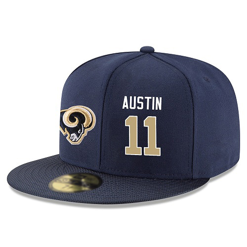NFL Los Angeles Rams #11 Tavon Austin Snapback Adjustable Stitched Player Hat - Navy/Gold