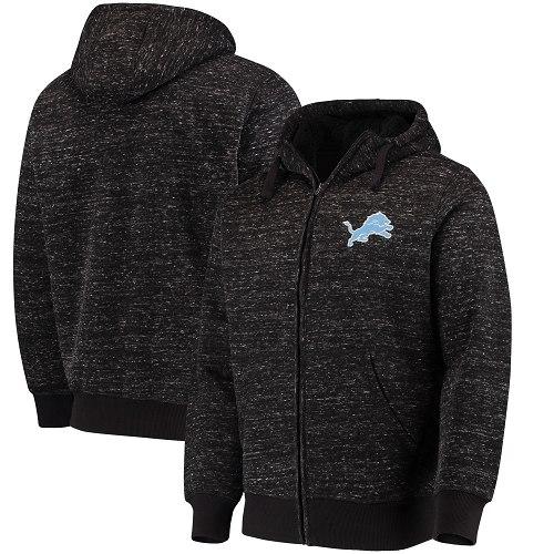 Detroit Lions Logo Pullover Hoodie Black
