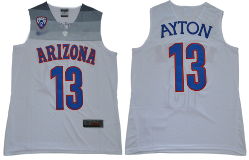 Wildcats #13 DeAndre Ayton White Basketball Stitched NCAA Jersey