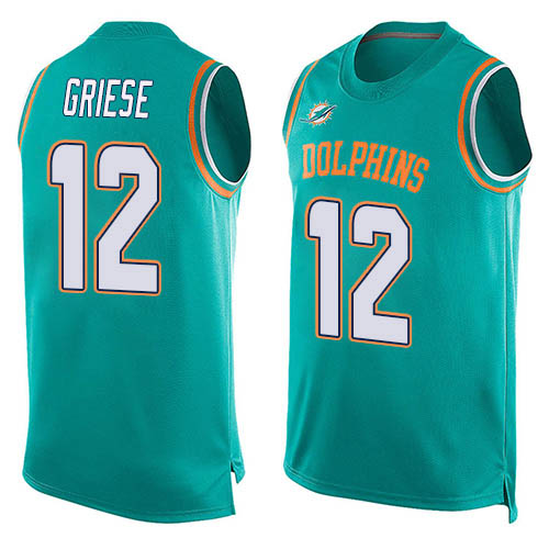 Football Men's Bob Griese Aqua Green Limited Jersey - #12 Miami Dolphins Player Name & Number Tank Top