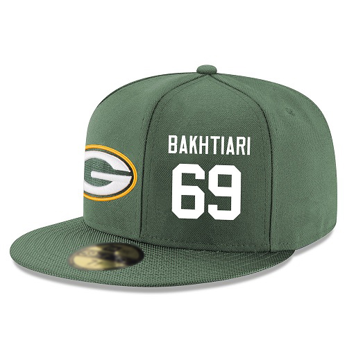 NFL Green Bay Packers #69 David Bakhtiari Snapback AdjustableStitched Player Hat - Green/White