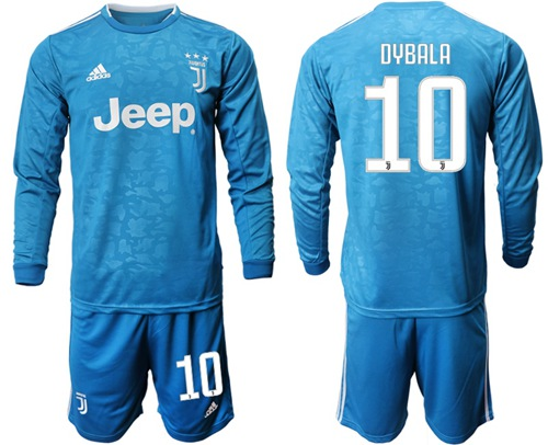 Juventus #10 Dybala Third Long Sleeves Soccer Club Jersey