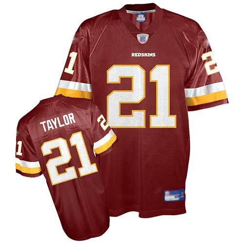 Authentic Men's Sean Taylor Burgundy Red Home Jersey: Football Washington Redskins #21 Throwback