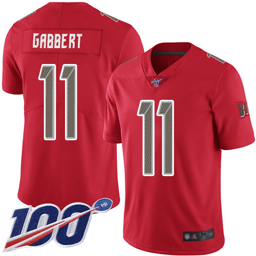 Blaine Gabbert Men's Red Limited Jersey: #11 Football Tampa Bay Buccaneers 100th Season Rush Vapor Untouchable