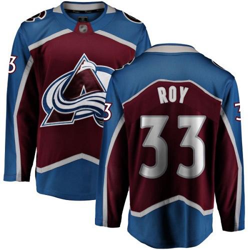 Men's Fanatics Branded Patrick Roy Breakaway Maroon Home Hockey Jersey: Colorado Avalanche #33
