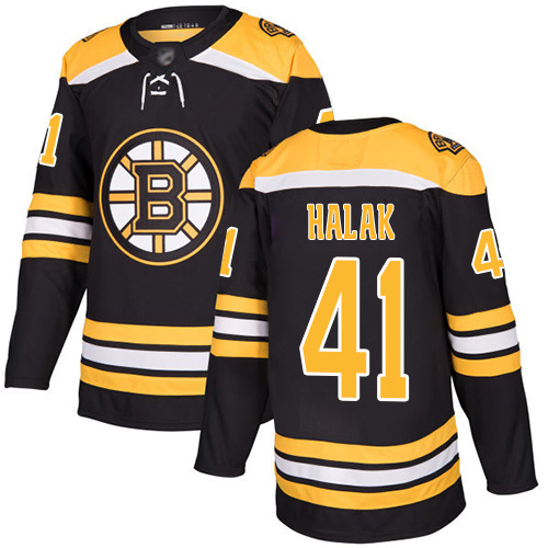 Hockey Youth Jaroslav Halak Black Home Authentic Jersey - #41 Boston Bruins