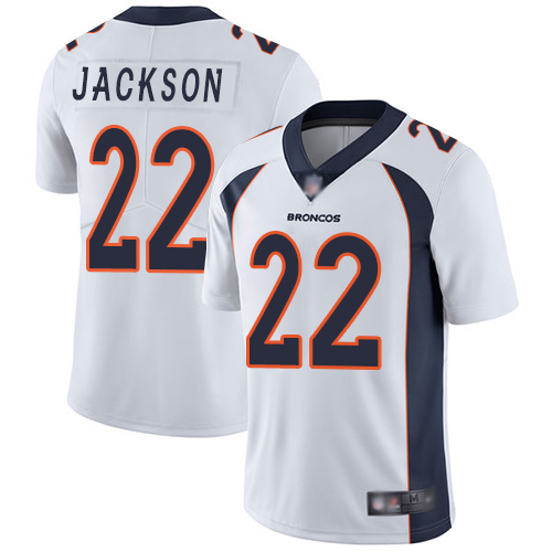 Youth Denver Broncos #22 Kareem Jackson White Vapor Untouchable Limited Player Football Jersey