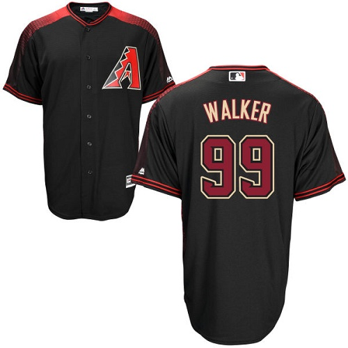 #99 Replica Taijuan Walker Men's Black/Brick Baseball Jersey - Alternate Arizona Diamondbacks Cool Base
