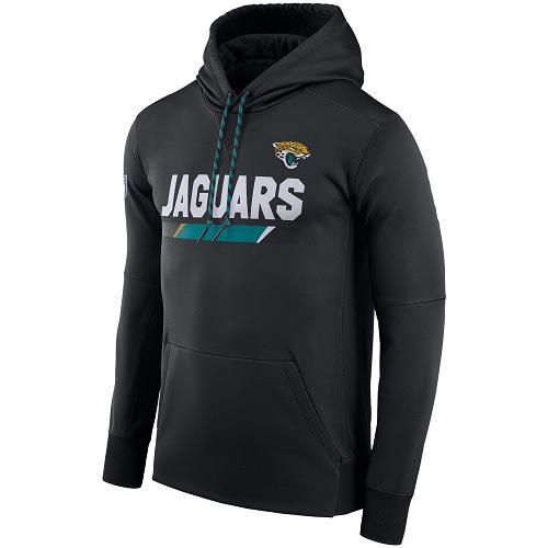NFL Men's Jacksonville Jaguars Nike Black Sideline ThermaFit Performance PO Hoodie