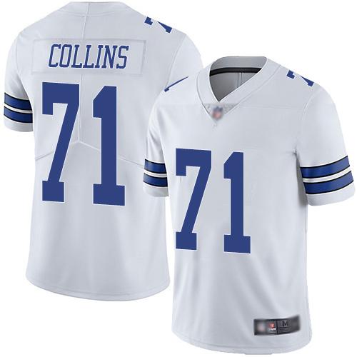 Youth La'el Collins Limited White Jersey: Football Dallas Cowboys #71 Road Vapor Untouchable