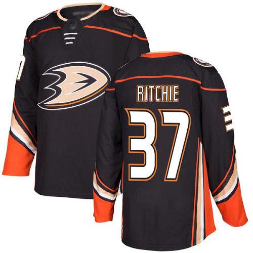 Men's Nick Ritchie Authentic Black Home Hockey Jersey: Anaheim Ducks #37