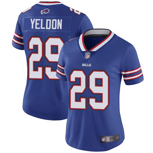 Women's T.J. Yeldon Elite Royal Blue Home Jersey - Buffalo Bills Football #29 Vapor Untouchable