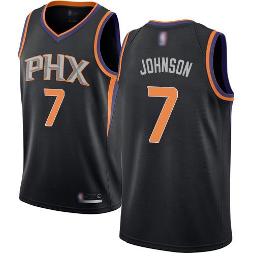 #7 Swingman Kevin Johnson Men's Black Basketball Jersey - Phoenix Suns Statement Edition