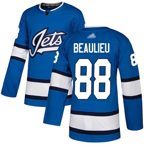 Hockey Youth Nathan Beaulieu Blue Alternate Authentic Jersey - #88 Winnipeg Jets