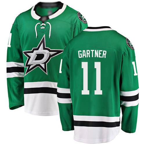 Men's Fanatics Branded Mike Gartner Breakaway Green Home Hockey Jersey: Dallas Stars #11