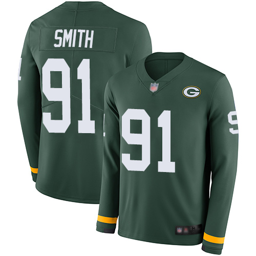 Preston Smith Men's Limited Green Jersey: Nike NFL Green Bay Packers Therma Long Sleeve #91