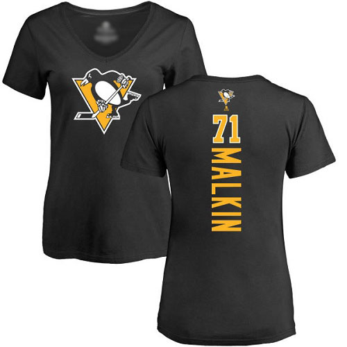 Women's Evgeni Malkin Black Backer Jersey - #71 Hockey Pittsburgh Penguins T-Shirt