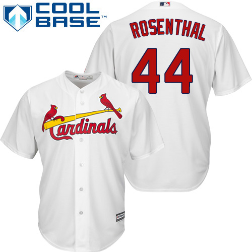 Youth Replica Trevor Rosenthal White Home Jersey - #44 Baseball St. Louis Cardinals Cool Base