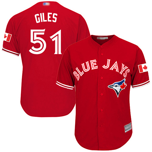 Youth Replica Ken Giles Scarlet Alternate Jersey - #51 Baseball Toronto Blue Jays Cool Base
