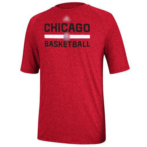 Adidas Chicago Bulls Red Practice Performance T-Shirt